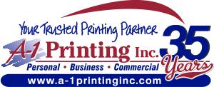 A-1 Printing Inc Anniversary Logo
