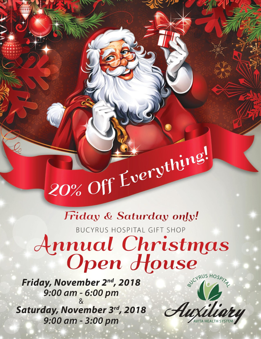 Christmas Open House at Bucyrus Hospital Gift Shop – Bucyrus Area ...