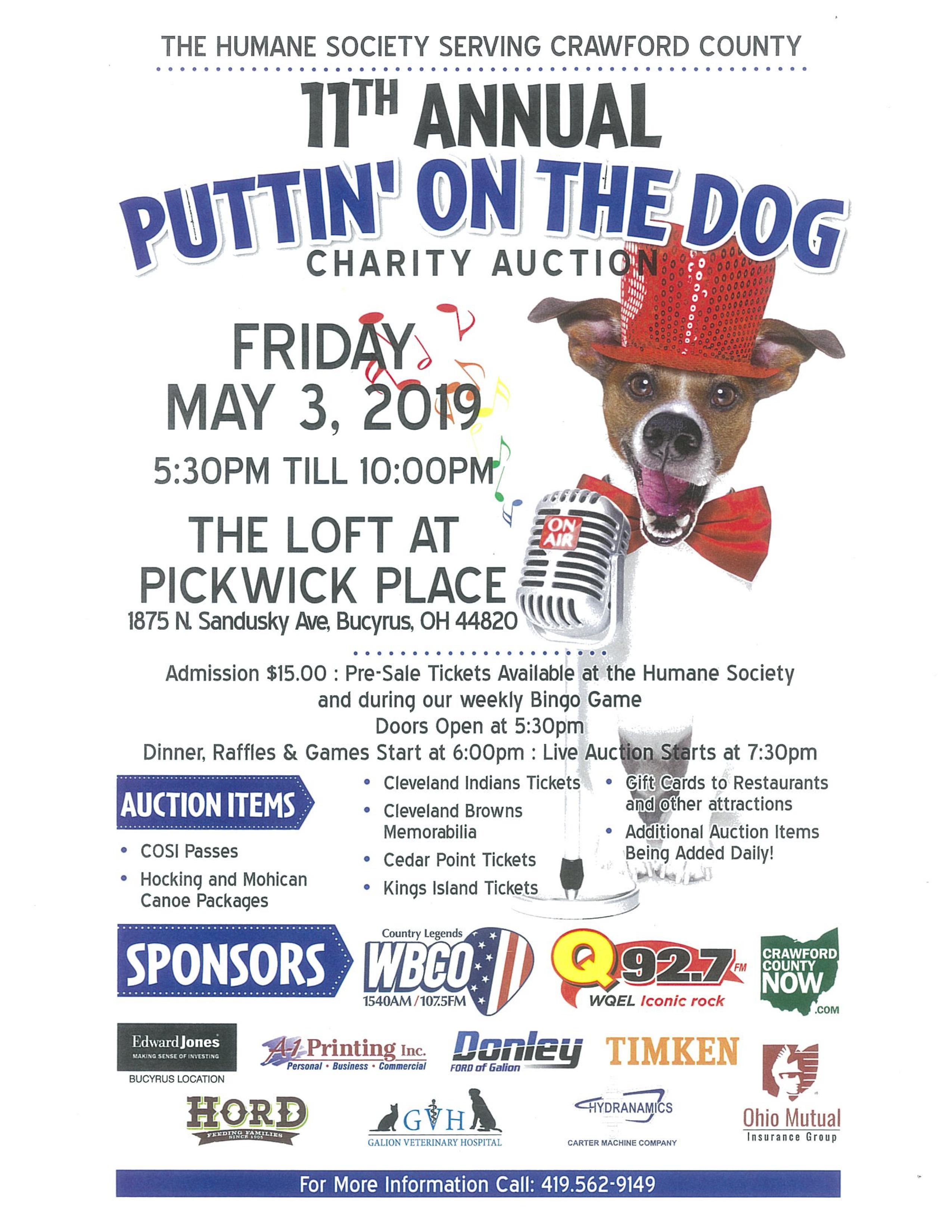 11th Annual Puttin On The Dog Bucyrus Area Chamber Of Commerce